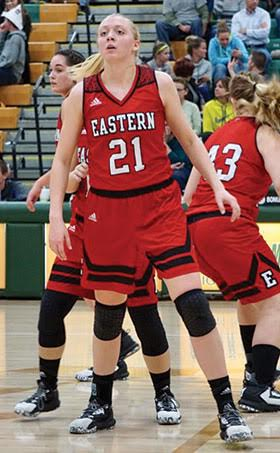 Eastern's Allison Day led the way for the Lady Warriors with 18 points in the Dec. 12 win at North Adams.
