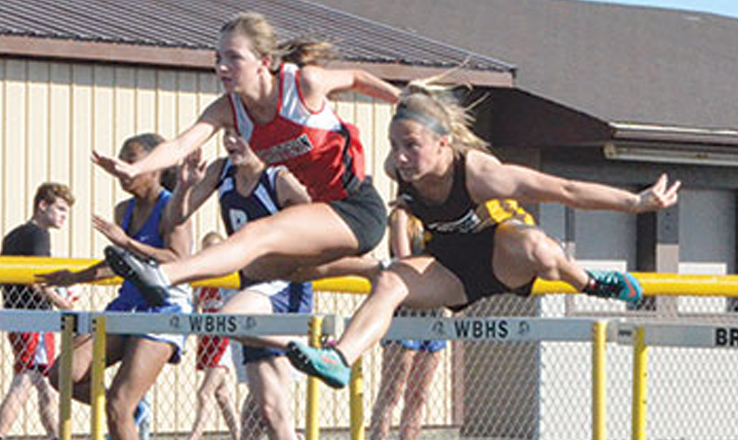Lady Broncos take first in Western Brown Track Invite