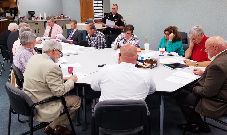 Brown County Sheriff Gordon Ellis discussed jail costs and other issues with the Brown County Criminal Justice TaskForce on April 11.