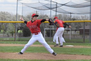 Eastern's Calder Holton pitched a complete game for the Warriors in the team's victory over Northwest in the second game of a doubleheader Saturday afternoon.