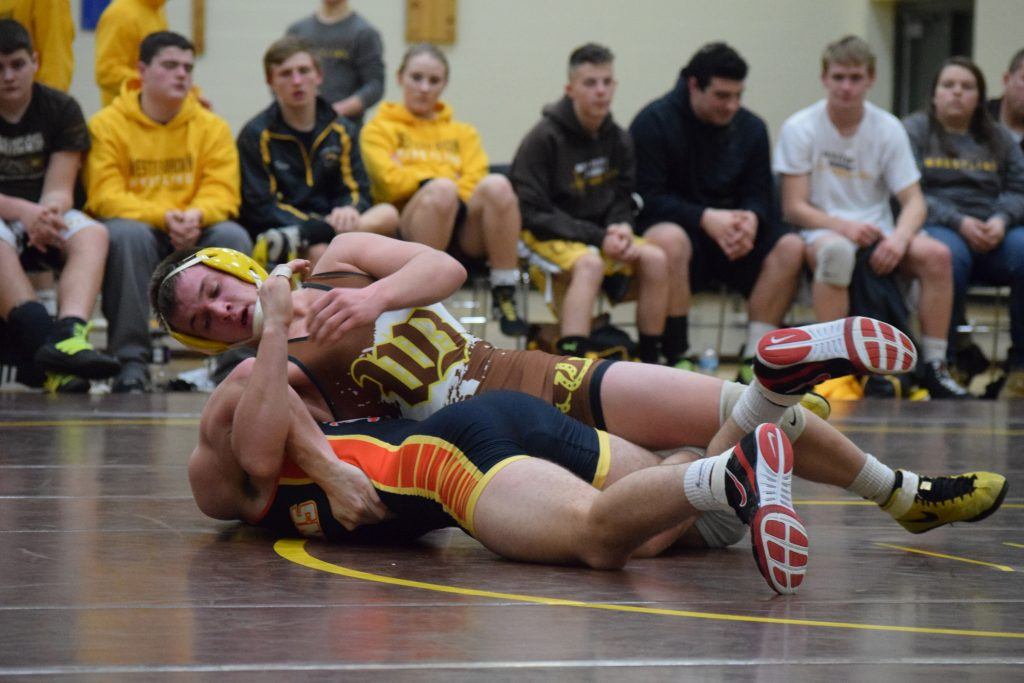 Western Brown senior Malachi Marlow will continue his wrestling career at Thomas More College.  Photo by Garth Shanklin