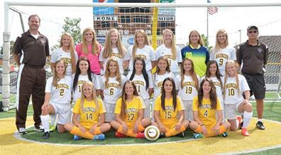 This year's Western Brown High School varsity girls soccer team finished the fall season with an overall record of 10-8-1.